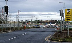 New tram line at Edinburgh Airport (geograph 3287941).jpg