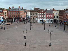 Newark marketplace from the town hall (geograph 2589501).jpg