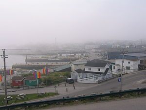 Port aux Basques bei Nebel