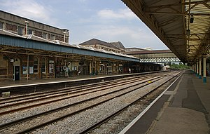English: Newport railway station in Wales.
