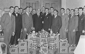 "Heinz 57 - Heinz convention in Montreal in 1940 prominently featuring ""57"""