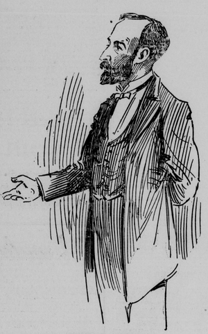 Aurelius W. Hutton - Hutton speaking at a political rally, 1898