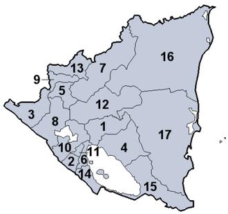ニカラグアの地方行政区分 - Wikipedia ニカラグアの地方行政区分 出典: フリー百科事