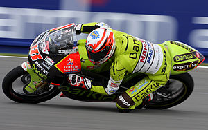 2011 Grand Prix motorcycle racing season - Image: Nicolas Terol 2011 Brno 2