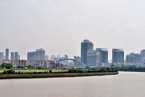 Ningbo skyline viewed on Changfeng Bridge.jpg