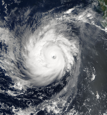 Hurricane Norbert as a Category 4 hurricane on October 8, 2008
