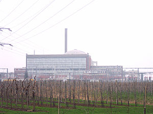 Stade Nuclear Power Plant - Image: Nordwestansicht AKW Stade