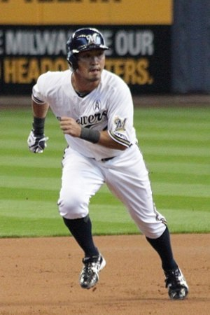 Nori Aoki - Aoki during his tenure with the Milwaukee Brewers in 2013