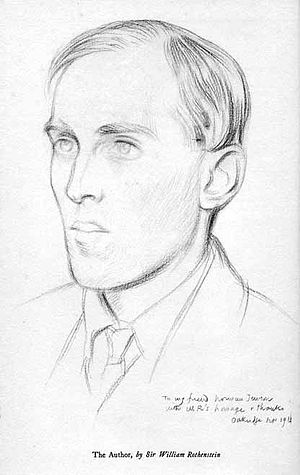 Owlpen Manor - Norman Jewson, pencil drawing, 1911, by Sir William Rothenstein
