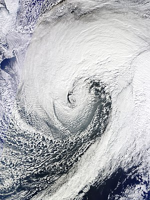 Explosive cyclogenesis - The January 2013 Northwest Pacific cyclone east of Japan, which met the conditions of explosive cyclogenesis