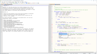 Notepad++ - Image: Notepad++ v 7 on Windows 10, with Media Wiki 1.27.1 source code, with split window view and autocompletion