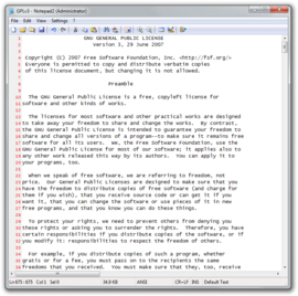 Screenshot di Notepad2