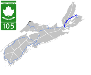 Nova Scotia Highway 105 - Image: Nova Scotia 105 Map