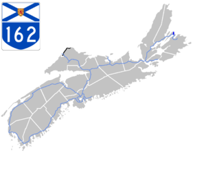 Nova Scotia Highway 162 - Image: Nova Scotia 162 Map