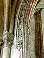 Noyon (60), cathédrale Notre-Dame, bas-côté sud, 3e travée, arcade vers la chapelle du Saint-Sépulcre, détail.jpg