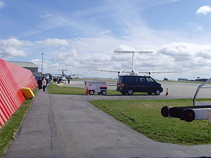 Cornwall Airport Newquay - Looking over the ramp at some of the airlines that serve NQY in Summer 2007