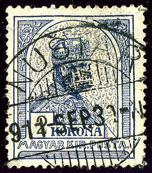 Nuštar - Hungarian Kingdom stamp cancelled at Nuštar in 1911