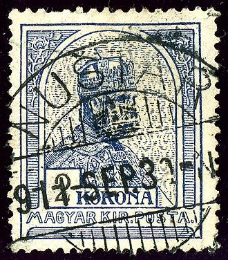 Nuštar - Hungarian Kingdom stamp cancelled at Nuštar in 1911