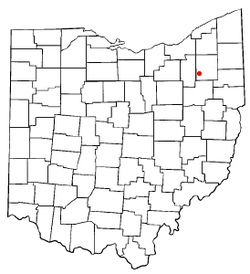 Location of Brimfield in the state of Ohio