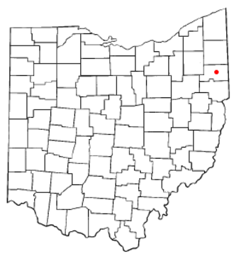 Canfield, Ohio - Image: OH Map doton Canfield