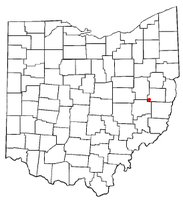 Location of Freeport, Ohio