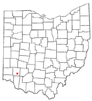 Morrow, Ohio - Image: OH Map doton Morrow