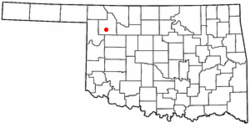Location of Sharon, Oklahoma