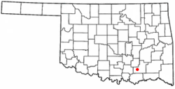 Location of Tushka, Oklahoma