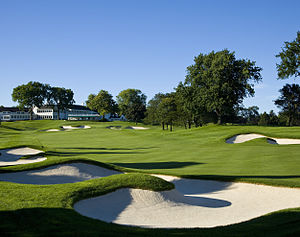 Hazard (golf) - Fairway bunkers at the Oakland Hills Country Club, Bloomfield Township, Michigan