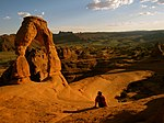 Observing Delicate Arch at Sunset - panoramio.jpg