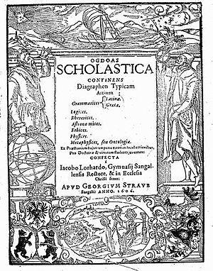 Jacob Lorhard - Ogdoas Scholastica,... (1606).