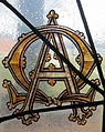 Ohio Dominican University (Columbus, Ohio) - Christ the King Chapel in Sansbury Hall, stained glass, Alpha Omega.jpg