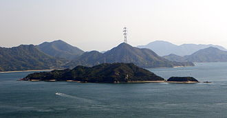 Ōkunoshima - A view of the island from Kurotaki-yama.