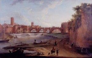 Edmund Garvey - Old Dee Bridge, attributed to Edmund Garvey