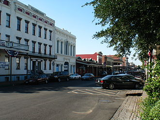 History of Sacramento, California - Old Sacramento State Historic Park, previously a slum known as the West End.