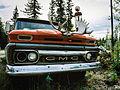Old pickup truck at Moose Creek Lodge, Yukon (10752690686).jpg