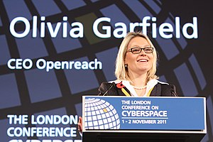Liv Garfield - Olivia Garfield speaking at The London Conference on Cyberspace, 2011