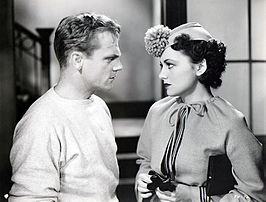 Olivia de Havilland en James Cagney in The Irish in Us