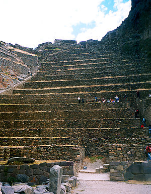 Battle of Ollantaytambo - Inca terraces at Ollantaytambo