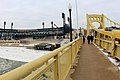 On Roberto Clemente Bridge and view of cold PNC Park (11845831003).jpg