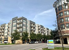 Mid Rise One Plus Five Style Apartment Buildings In Austin Texas