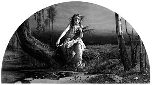 References to Ophelia - Ophelia as appeared in The Works of Shakspere, with notes by Charles Knight, ca. 1873