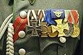 Ordnungspolizei parade uniform, Ostmedaille ribbon, Eiserne Kreuz 1914, Ehrenkreuz 1914-18, Dienstauszeichn. 1913-24, Polizei Dienstauszeich., Hungarian Haborus Emlekerem, Bulgarian medal 1915-18 Lofoten Krigsminnemuseum 980.jpg