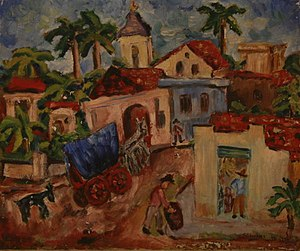Soshana Afroyim - Outside Havana, oil on canvas, painted by Soshana, 1947
