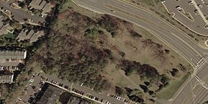 Ox Hill Battlefield Park - Satellite view of the park