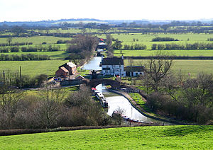 Oxford Canal - The Oxford Canal as seen from Napton-on-the-Hill in Warwickshire.