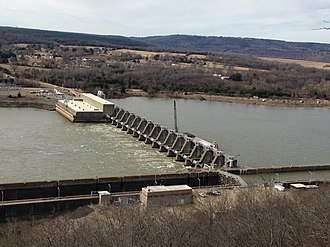 Southwestern Power Administration - Image: Ozark Jeta Taylor Lock and Dam