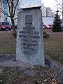 Písek, sídliště Portyč, památník obětem války, nápis.jpg