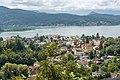 Pörtschach am Wörther See Blick vom Bannwaldweg auf Kirche und Werzers Hotel Resort 25082019 7067.jpg