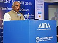 "P. Radhakrishnan delivering the inaugural address the 'Global Procurement Summit 2018' on ""New Frontiers faced in the Transformation process of Procurement Today"", in New Delhi.jpg"